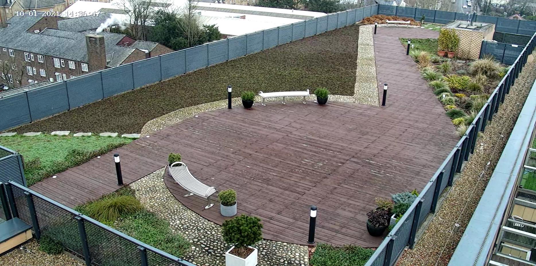 Oasis Watering Roof garden